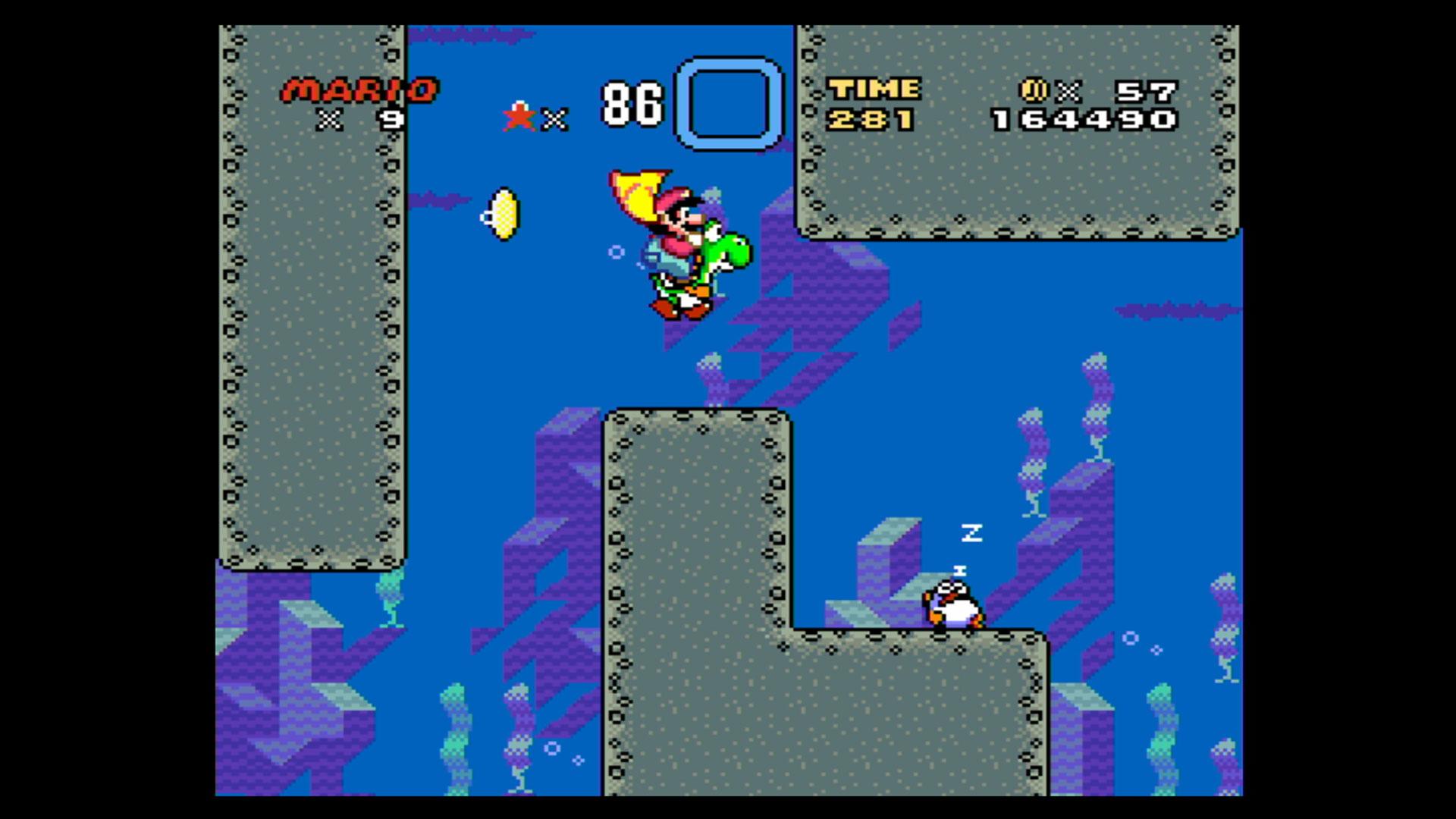"""Screenshot aus dem Spiel """"Super Mario World"""""""