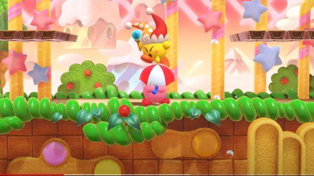 "Screenshot aus dem Trailer zu ""Kirby Fighters 2"""