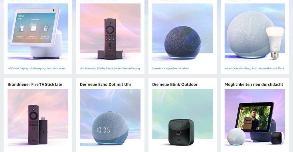 Neue Amazon-Produkte