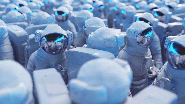 Eine Gruppe von Astronauten