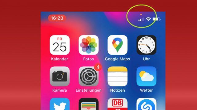 iOS 14: Grüner und orangener Punkt?