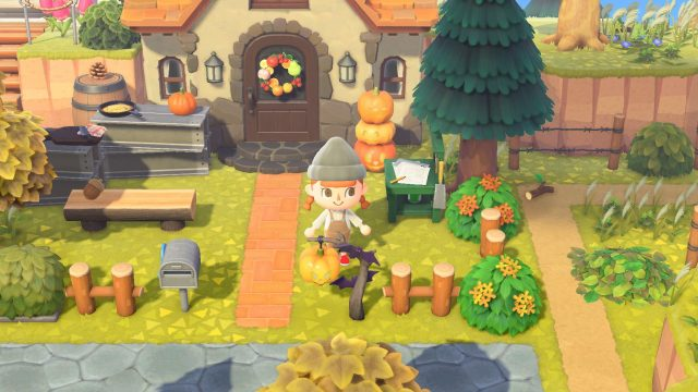 "Der Herbst in ""Animal Crossing: New Horizons""."