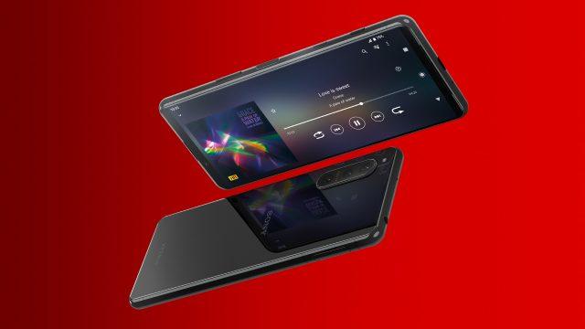 Das Sony Xperia 5 II 5G frontal und von hinten
