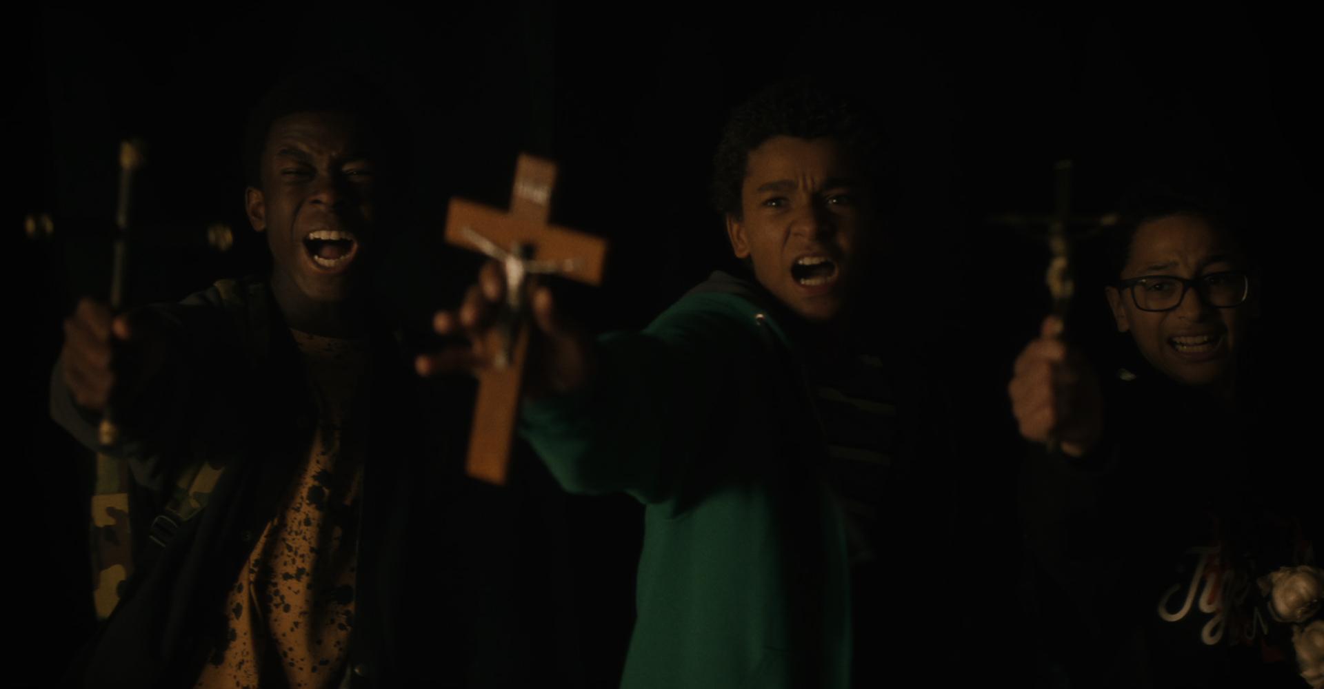 Jaden Michael, Gregory Diaz IV und Gerald W. Jones III in Vampires vs. the Bronx