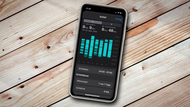 Schlaf-Daten der Apple Watch auf dem iPhone