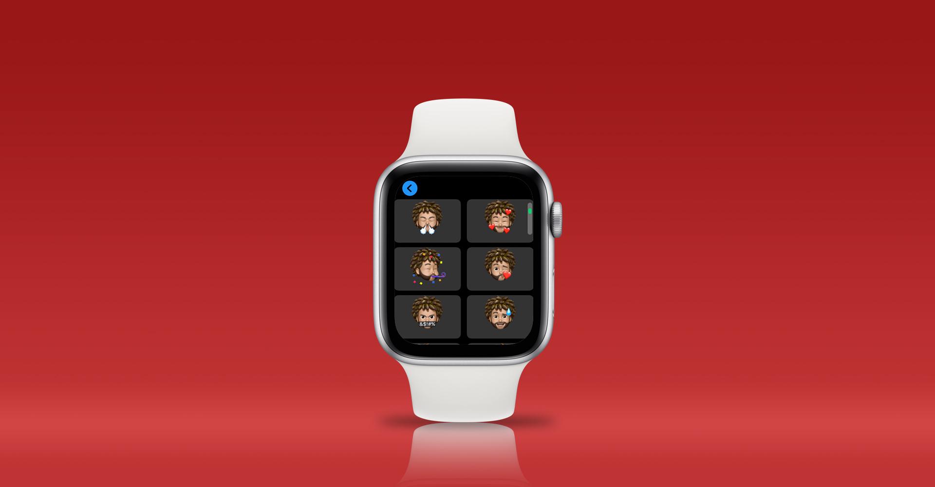 Memojis auf der Apple Watch in Nachrichten versenden