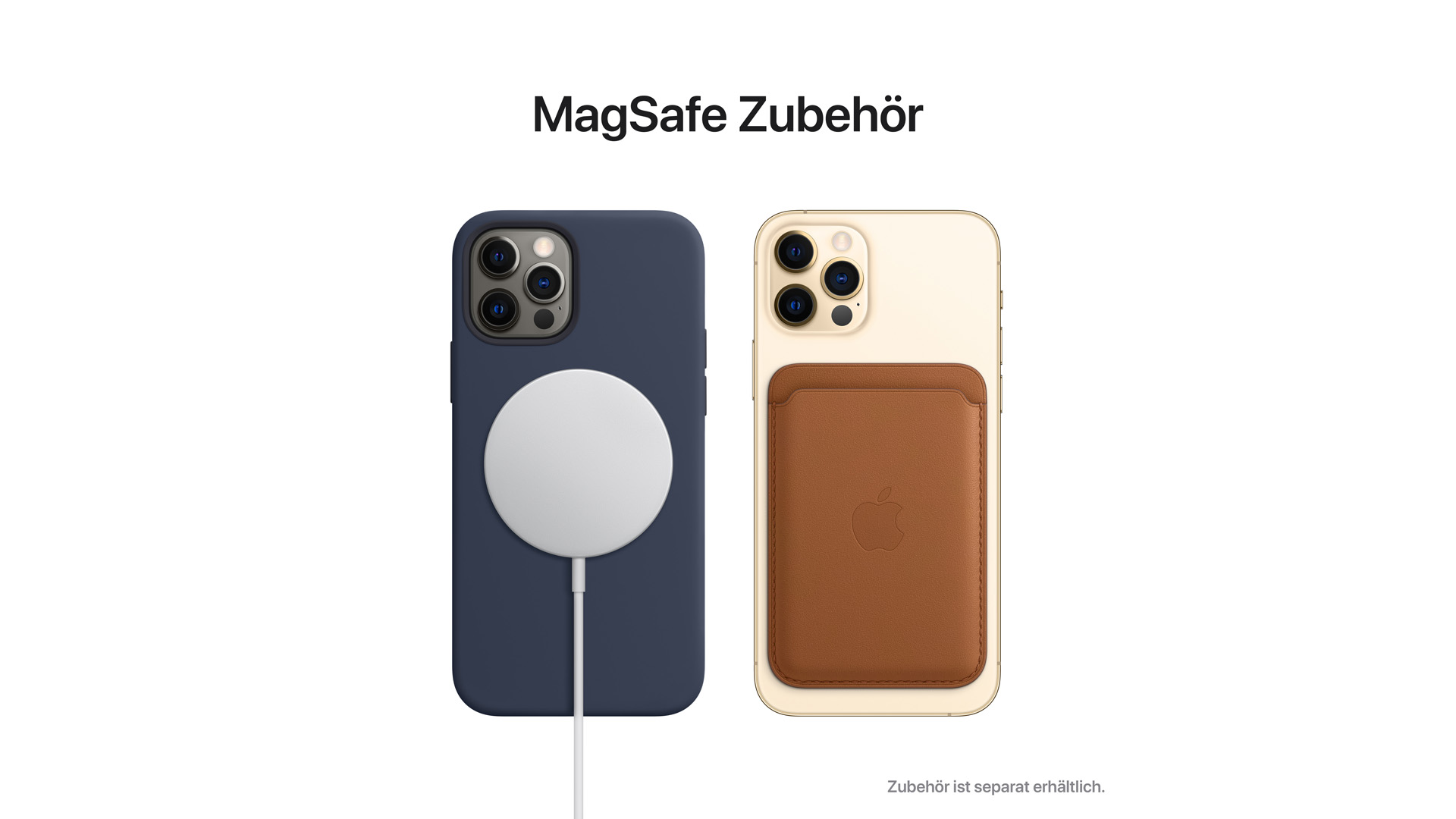 """Die Magnetfunktion """"MagSafe"""" des neuen iPhone 12."""