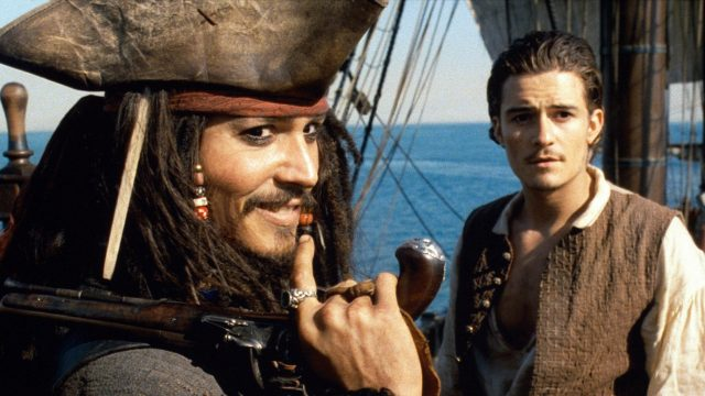"Johnny Depp und Orlando Bloom in ""Fluch der Karibik"""