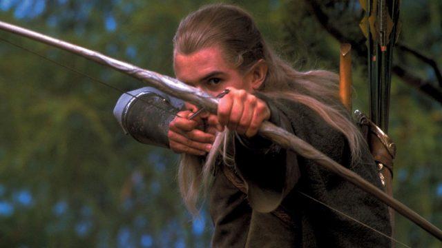 """Legolas (Orlando Bloom) in """"Herr der Ringe: Die Gefährten""""."""