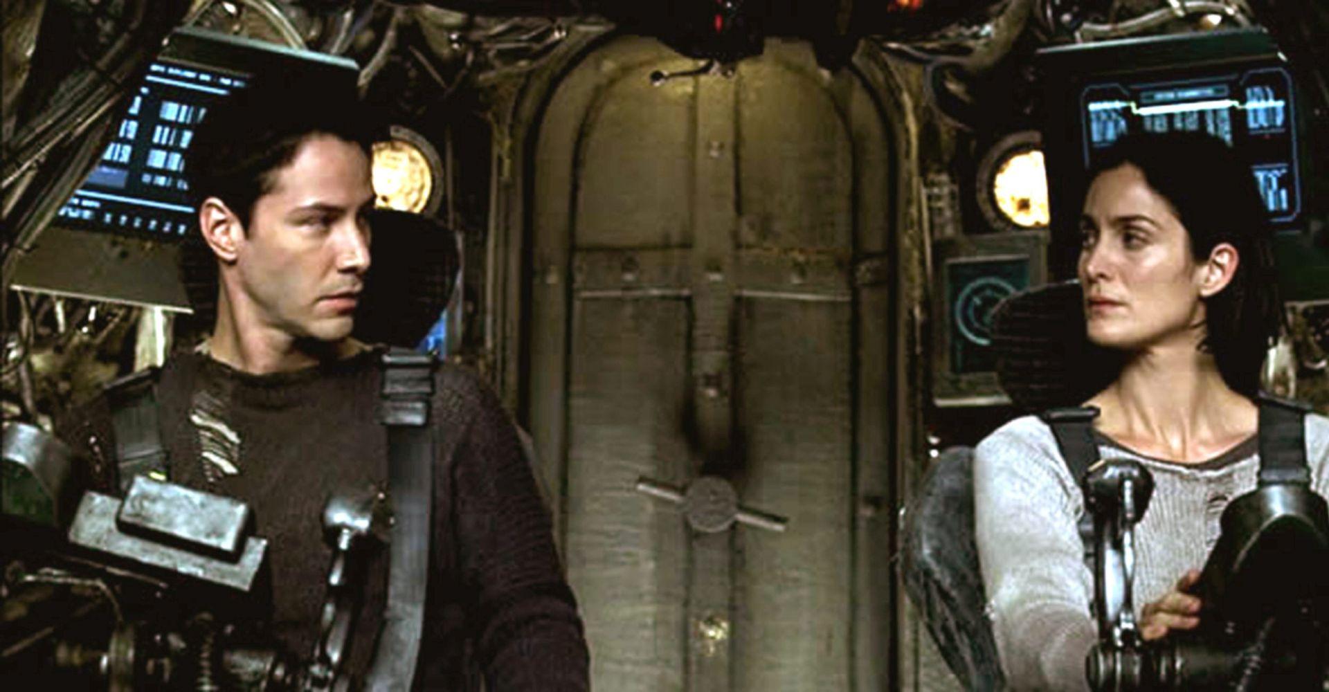 "Keanu Reeves und Carrie-Ann Moss in ""The Matrix Revolutions""."