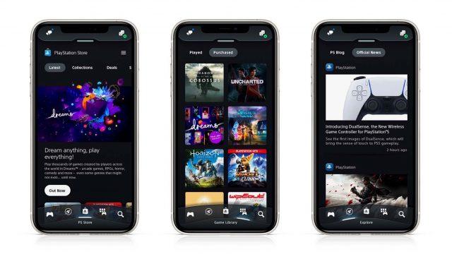 Screenshots von der neuen PlayStation-App