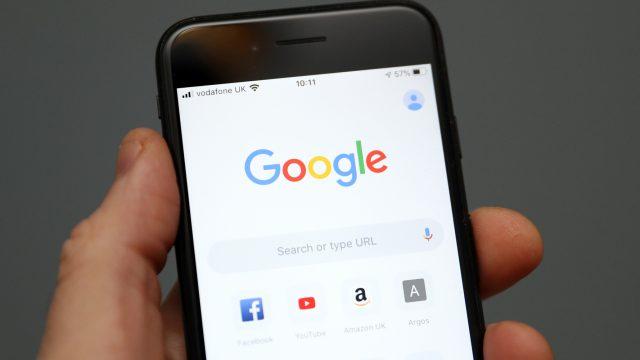 Google-App auf Smartphone