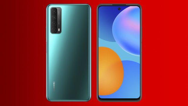 Das Huawei P smart 2021 in Grün frontal und rückseitig.