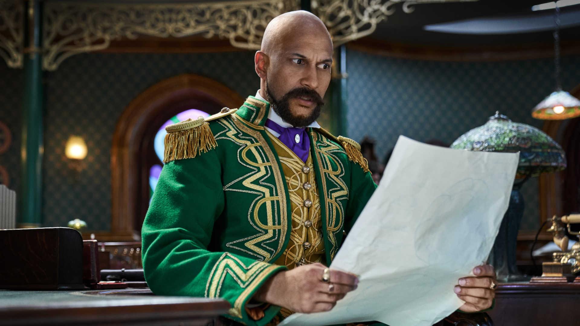 Keegan-Michael Key als Gustafson in Netflix' Jingle Jangle Journey: Abenteuerliche Weihnachten