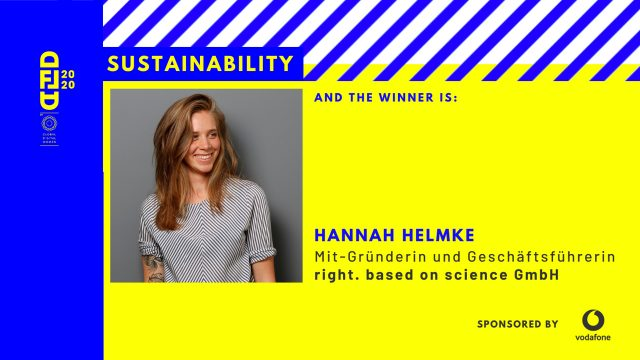 Digital Female Leader Award Sustainability Hannah Helmke