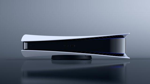 Konsole PlayStation 5 (PS5) mit Spiegelung