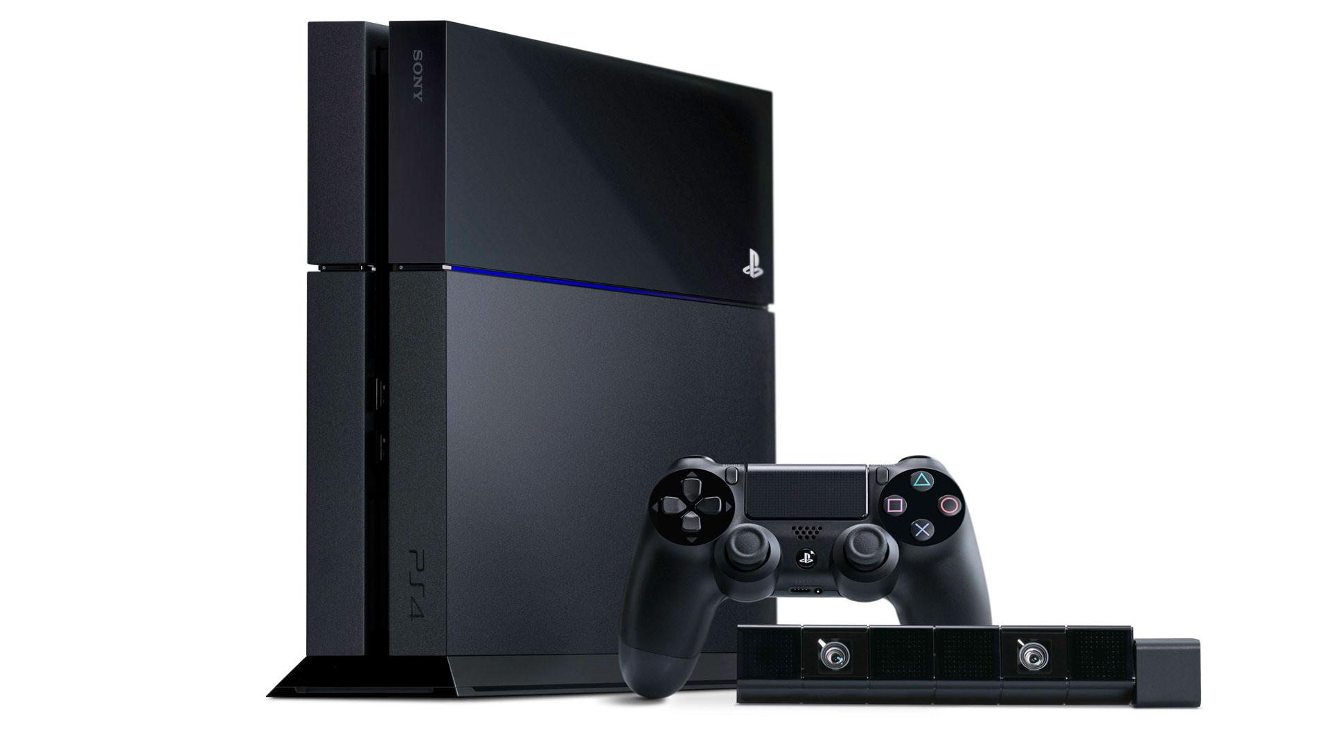 Die PlayStation 4 mit Controller