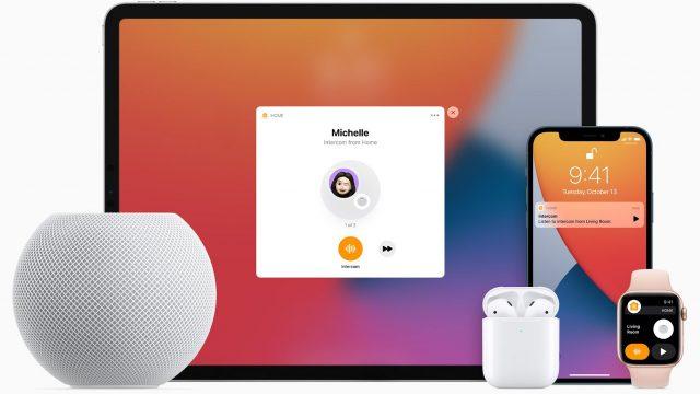 Intercom an Apple-Geräten