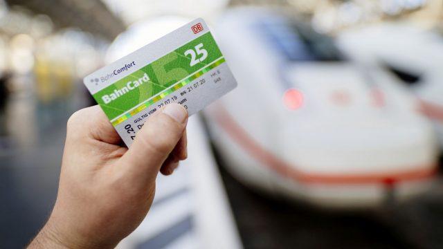 Die physische Bahncard.