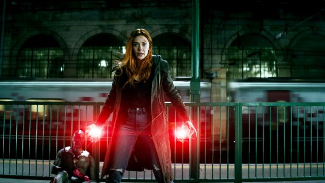 Elizabeth Olsen als Scarlet Witch in Avergers: Infinity War