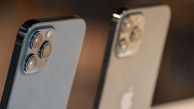 Das zum Messen von Größen nutzbare iPhone 12 Pro.