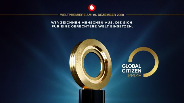 Der Global Citizen Prize 2020.