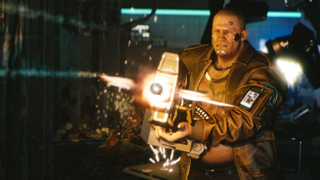 Screenshot von einer Waffe aus Cyberpunk 2077