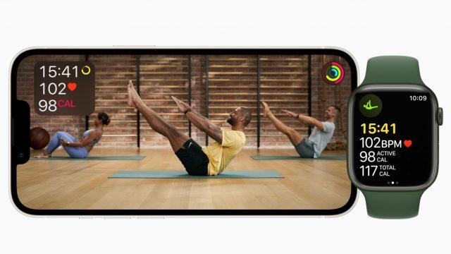Screenshot eines Apple-Fitness-Plus-Workouts.