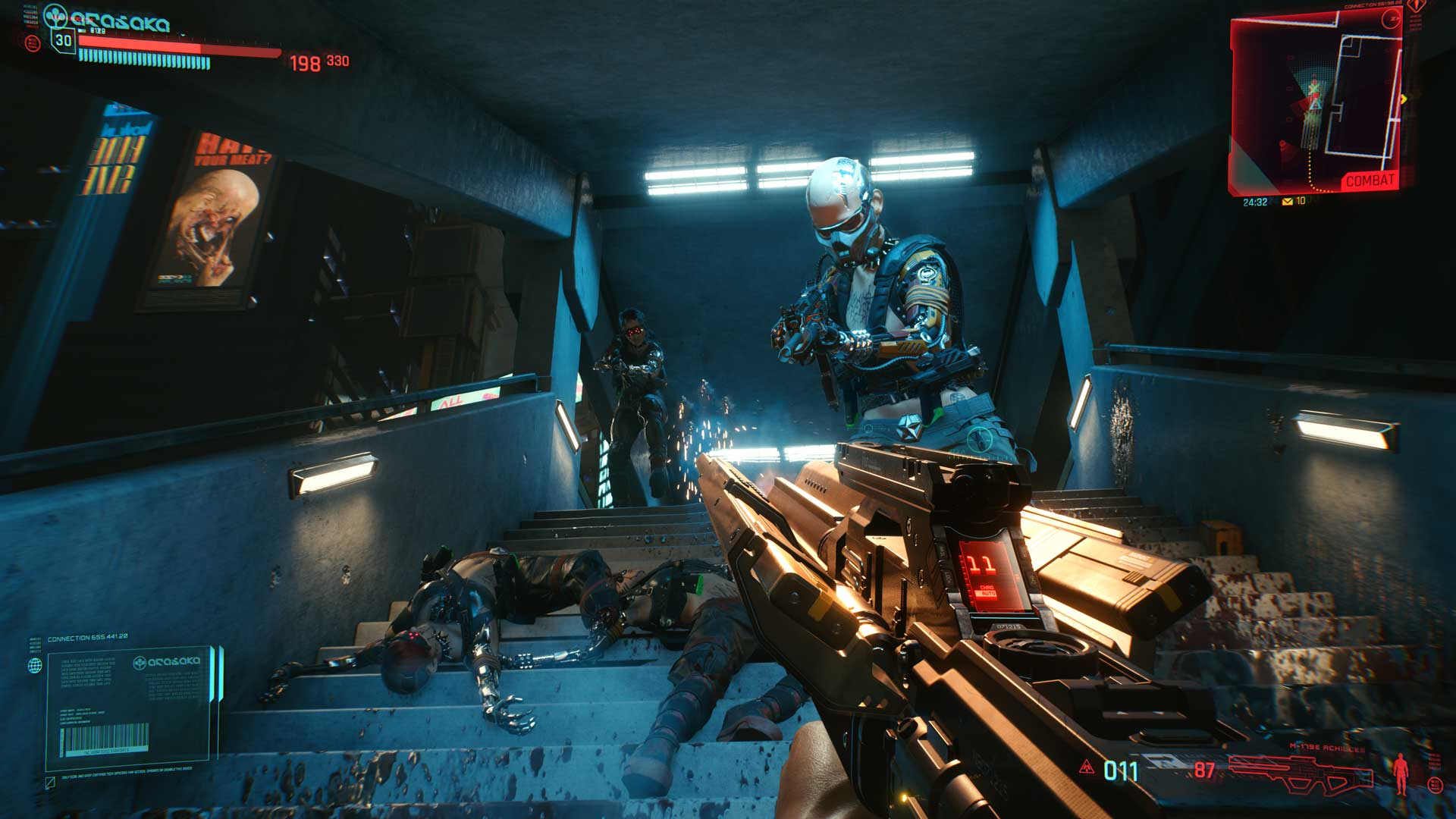 Schussgefecht in Cyberpunk 2077
