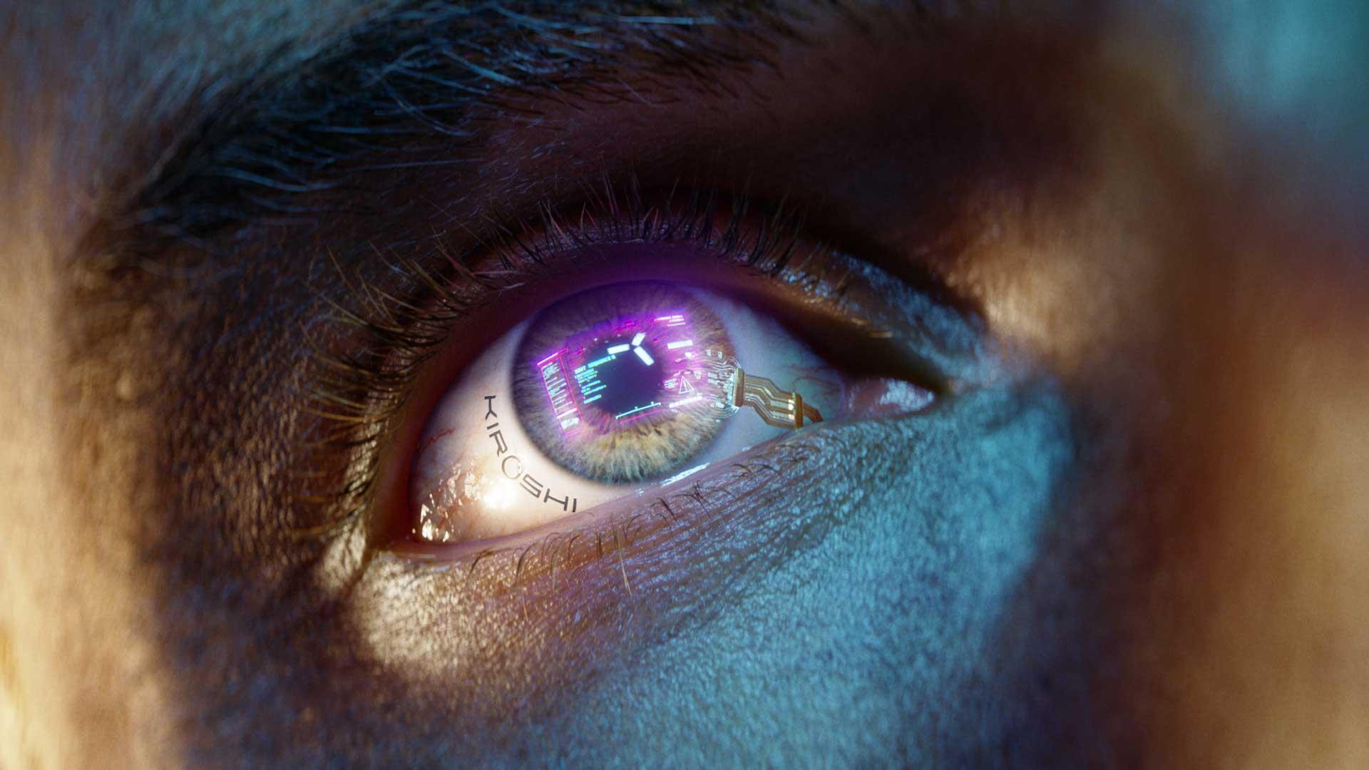 Auge Cyborg in Cyberpunk 2077