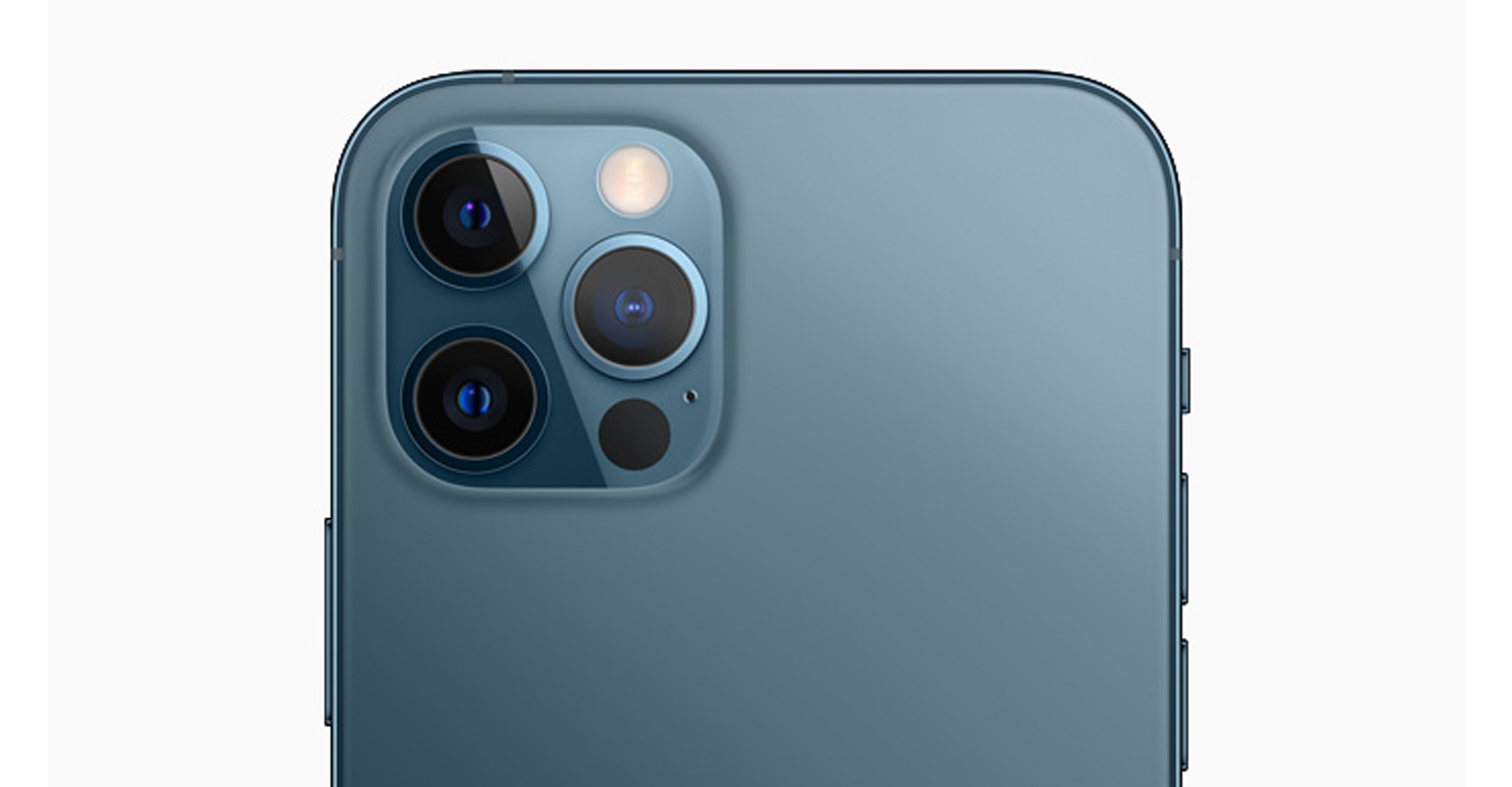 Rückseite des iPhone 12 Pro Max mit Triple-Kamera