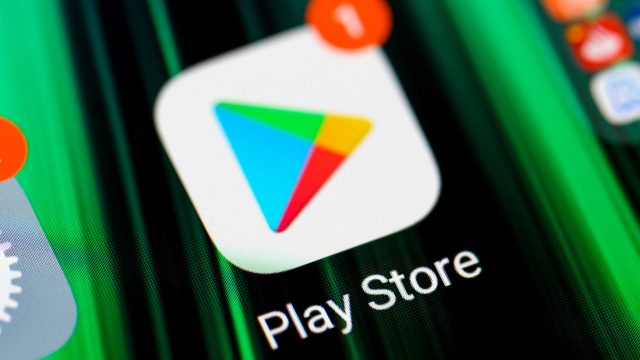 Google Play Store Logo auf Android-Smartphones 2021