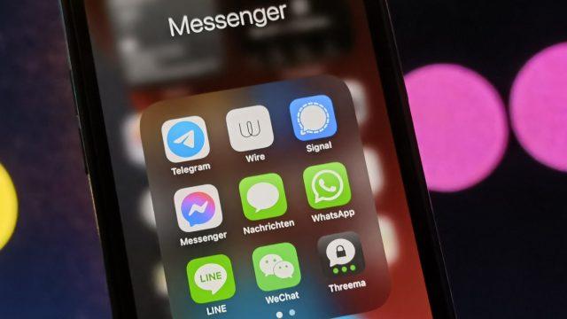 App-Icons von WhatsApp und Alternativen auf iPhone 12 Pro