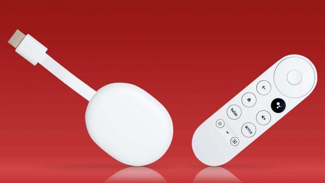 Der Google Chromecast mit Fernbedienung.
