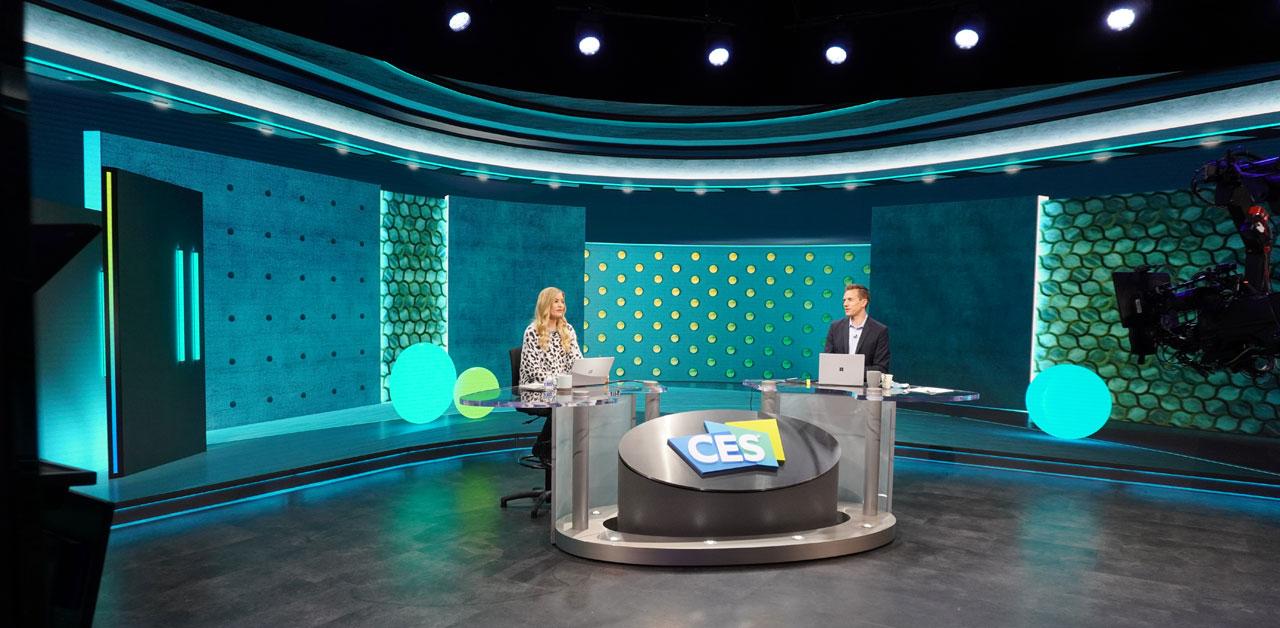 CES 2021: Anchor Desk Set mit iJustine und Rich DeMuro