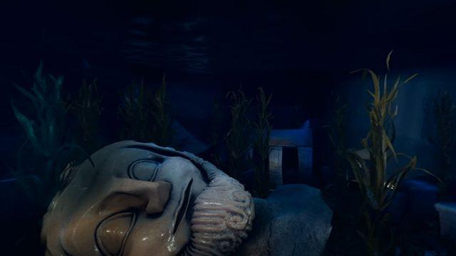 """Ein Screenshot aus der Freizeitpark-Attraktion """"20.000 Meilen unter dem Meer"""" in Virtual Reality."""