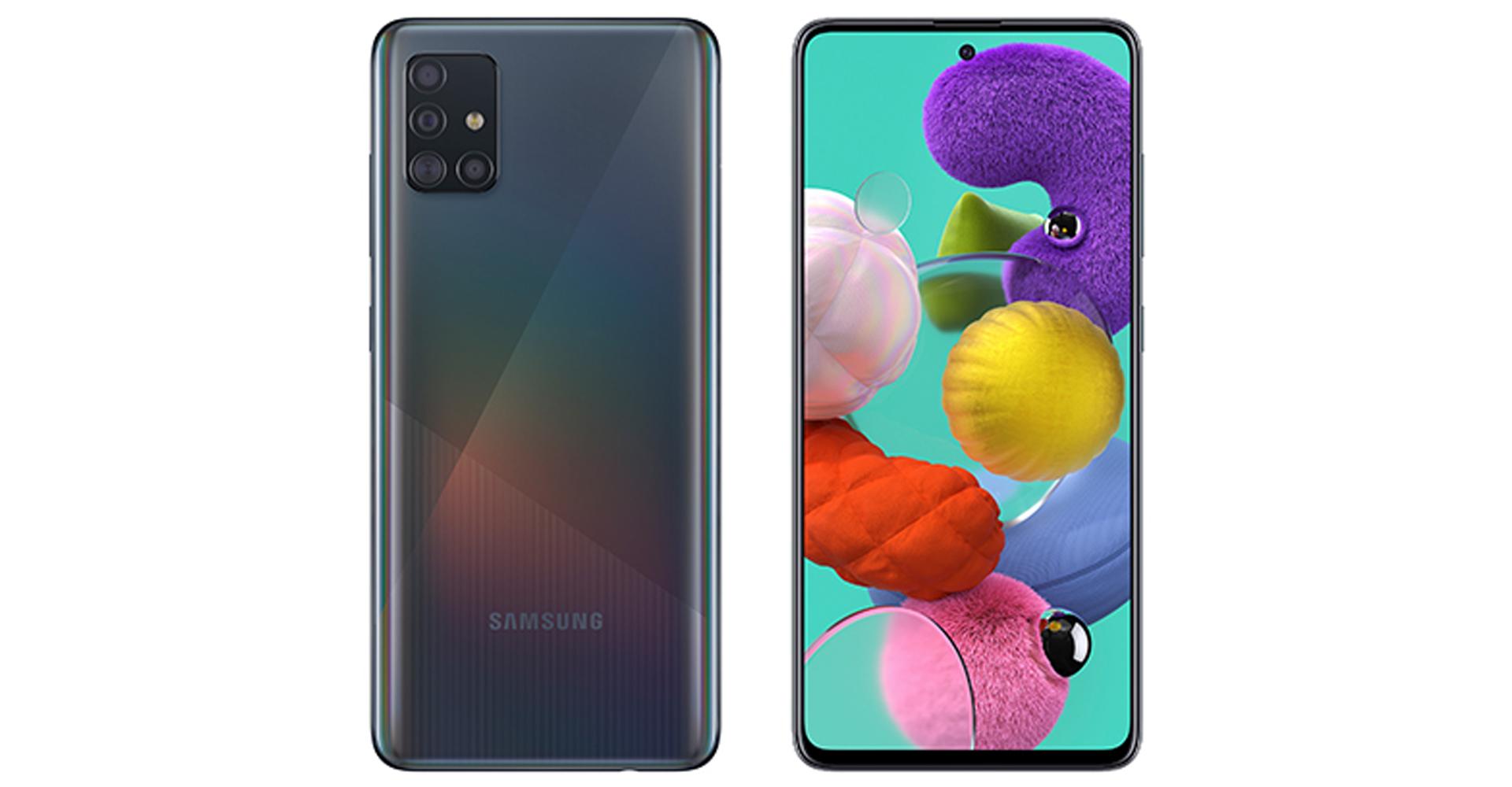 Samsung Handy-Vergleich: Galaxy A51 von vorne und hinten