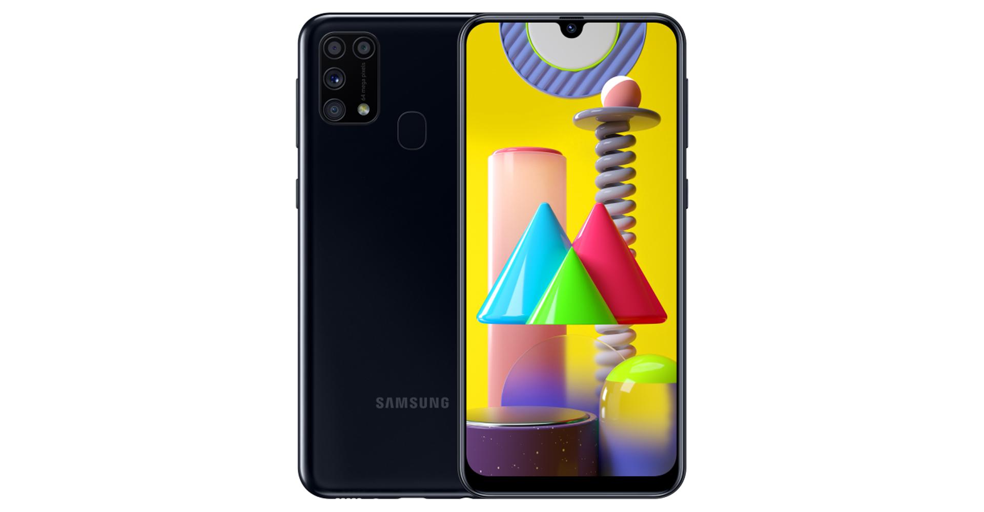 Samsung Galaxy M31 von vorne und hinten