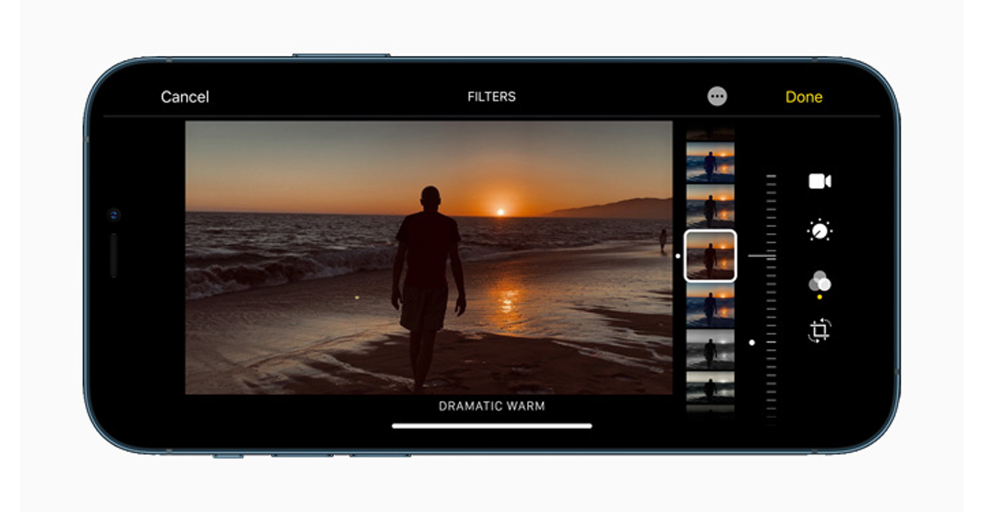 iPhone 12 Pro Max Kamera-Ansicht im Landscape-Modus