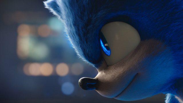 "Der Igel Sonic im Profil im Film ""Sonic The Hedgehog""."
