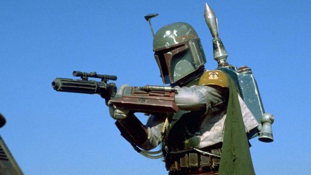 "Jeremy Bulloch als Boba Fett in ""Star Wars Episode VI""."