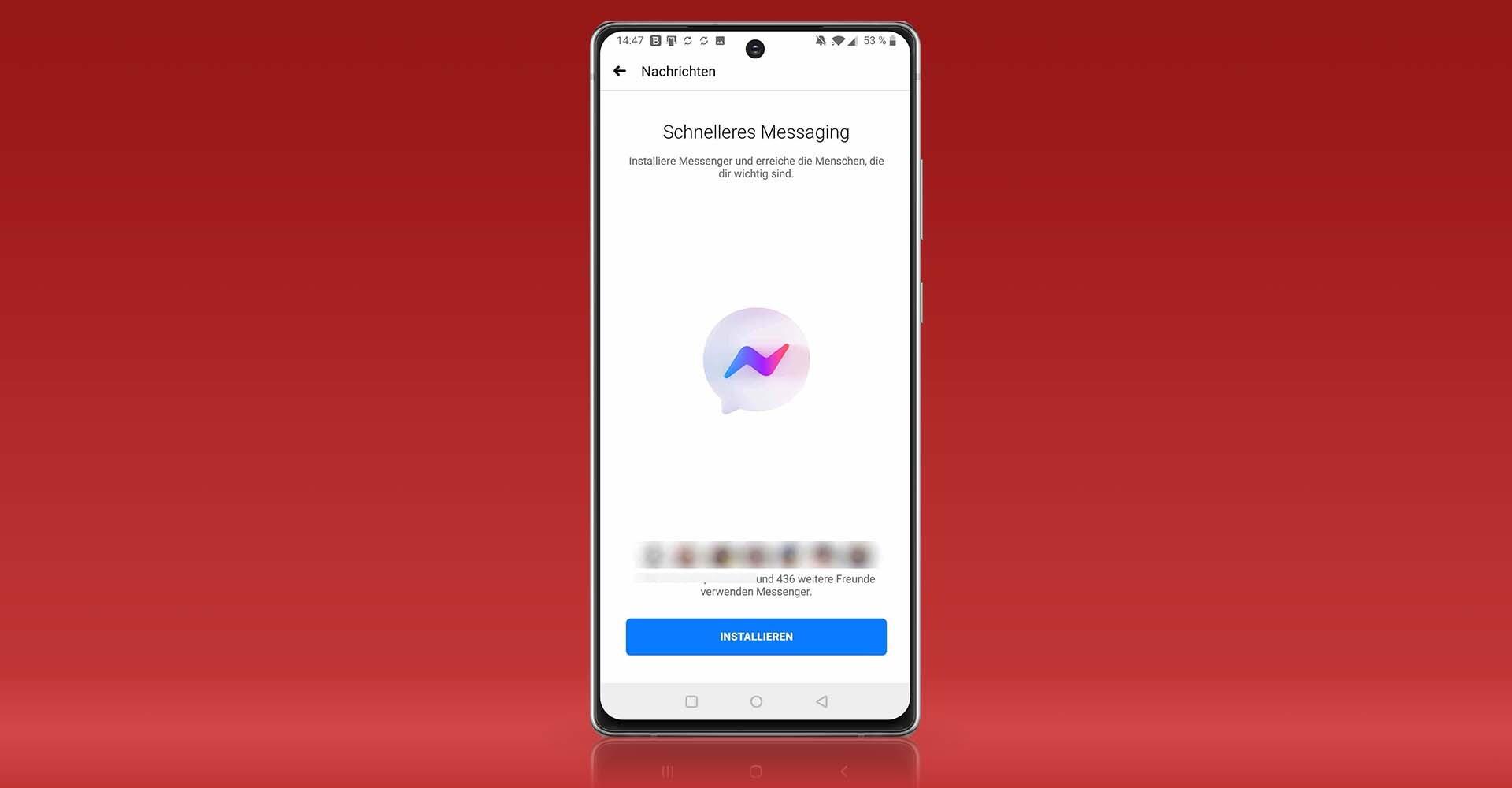 Fehlermeldung beim Aufrufen des Messengers in der Facebook-App