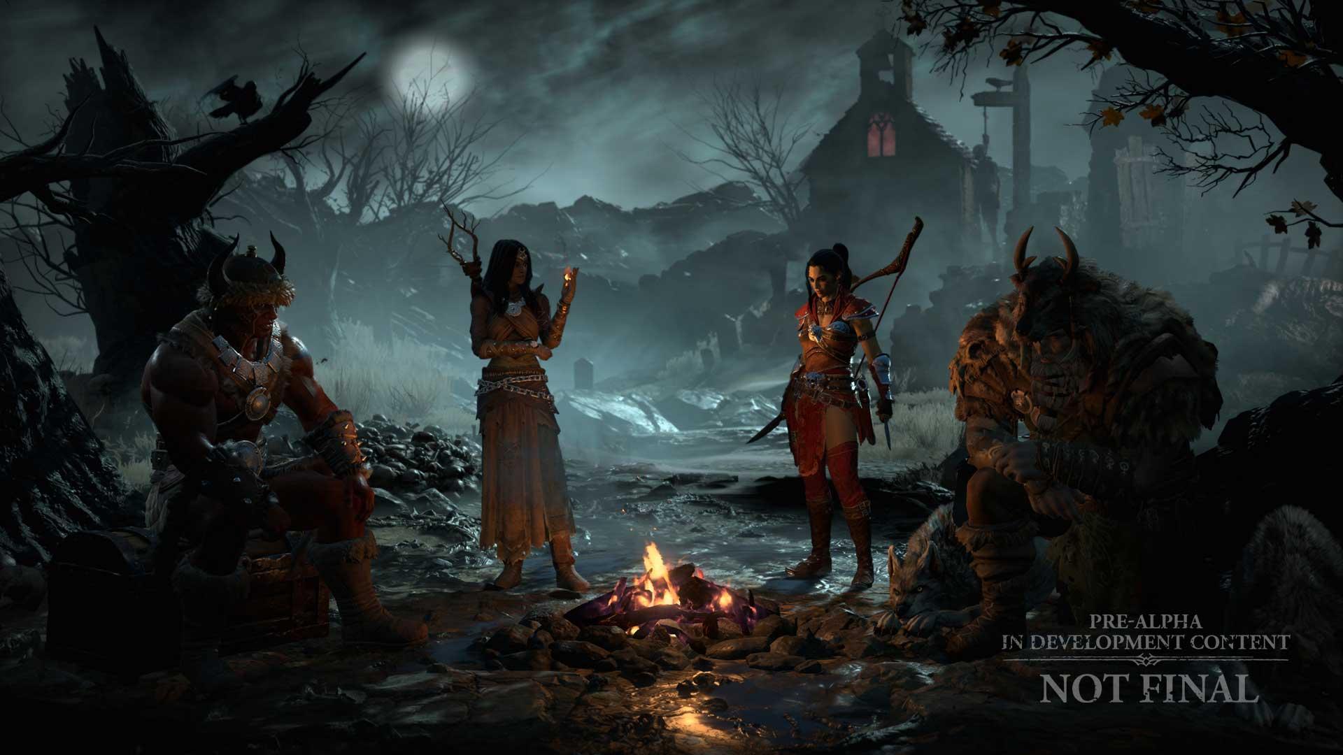 Charakterbildschirm in Diablo 4
