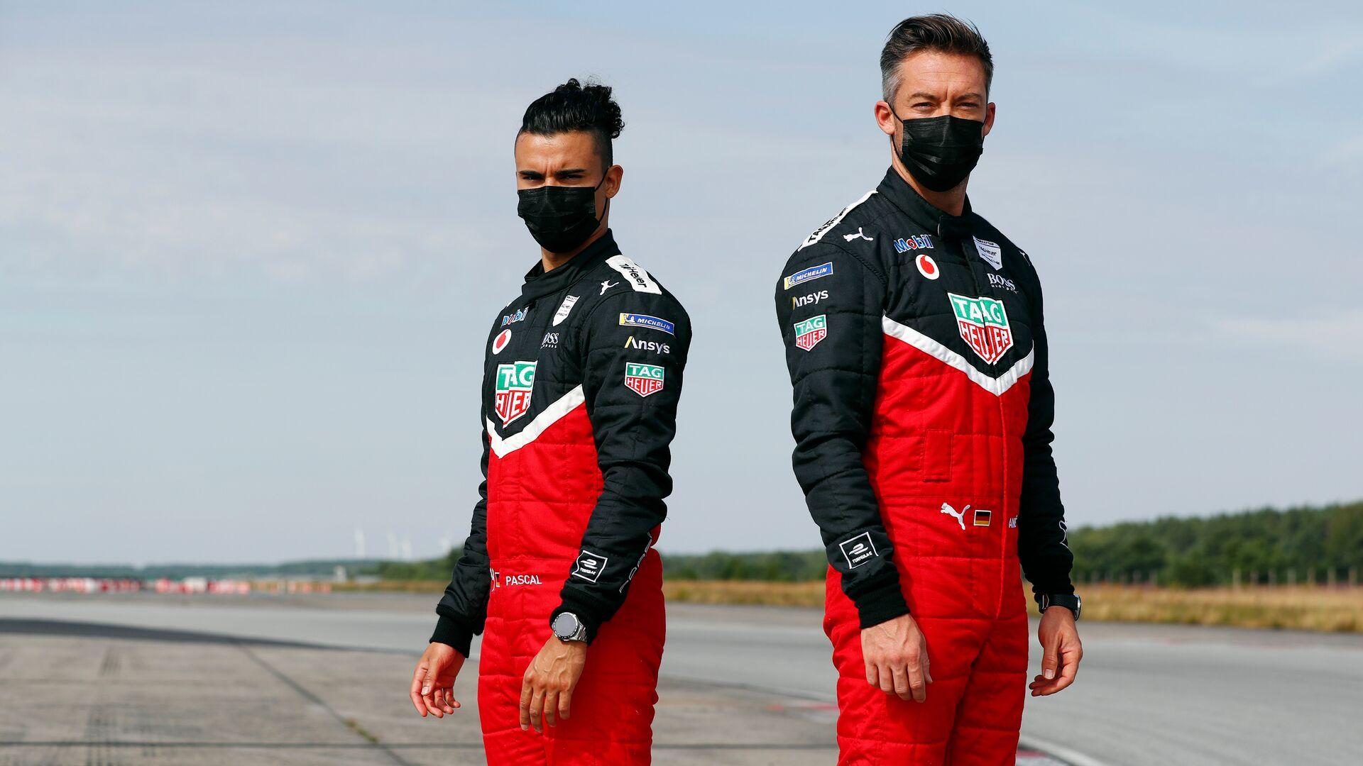 Die TAG Heuer Porsche-Werksfahrer Pascal Wehrlein und André Lotterer zur siebten Saison der ABB FIA Formel E.