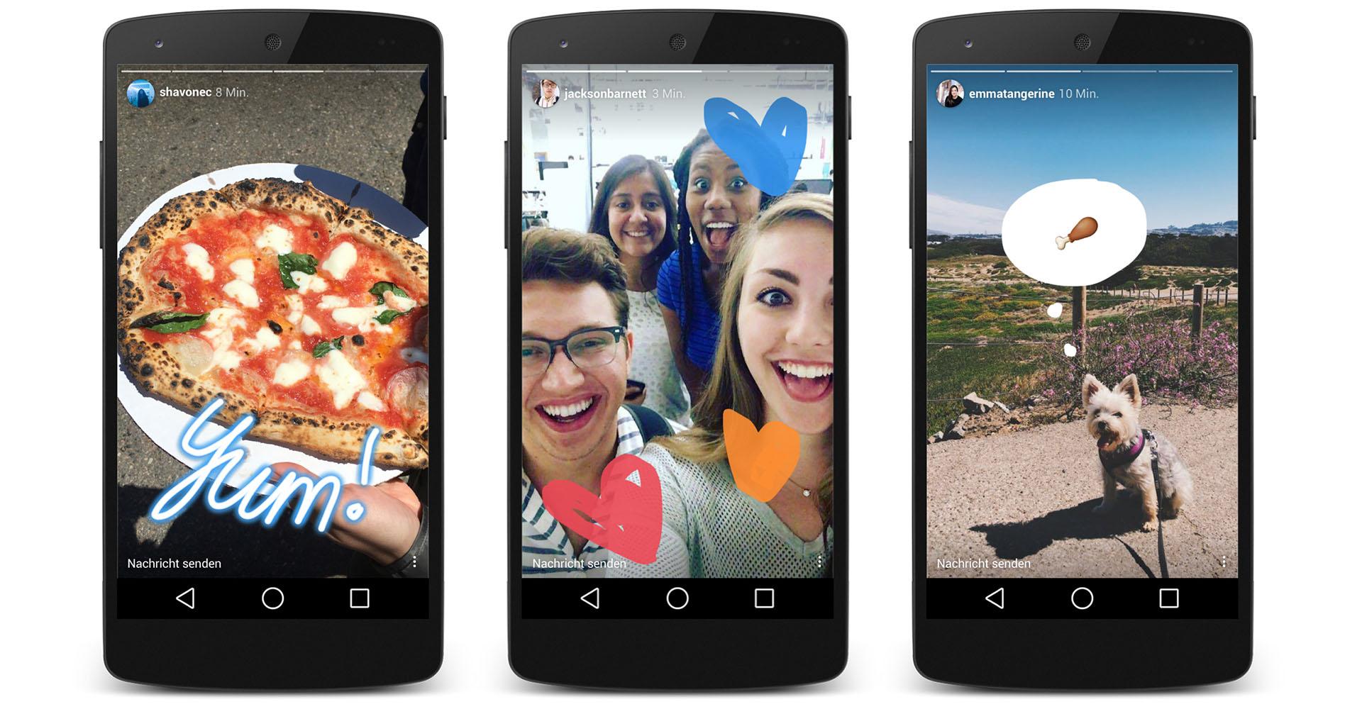Beispiele für Instagram-Stories