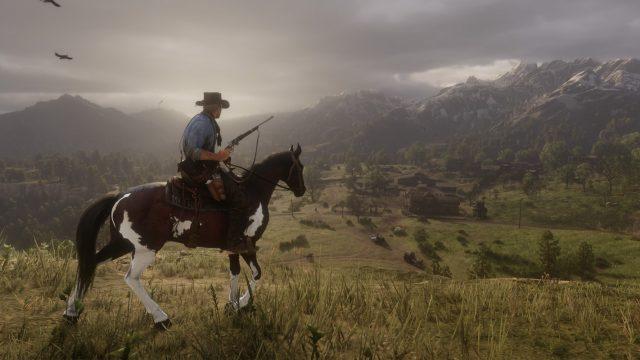 Der Protagonist in Red Dead Redemption 2 auf einem Pferd