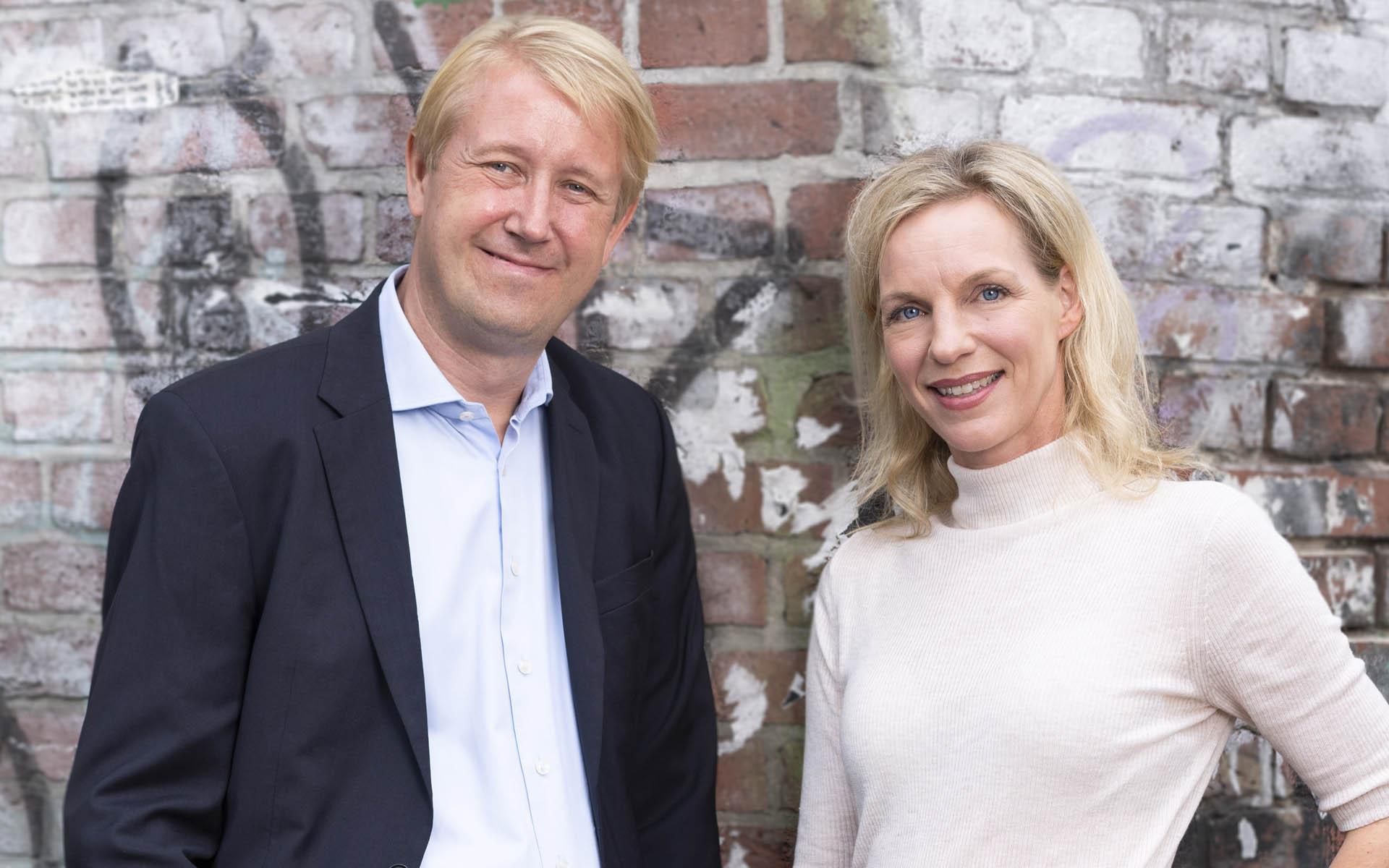 Die Geschäftsführung der AllBright Stiftung: Dr. Wiebke Ankersen und Christian Berg