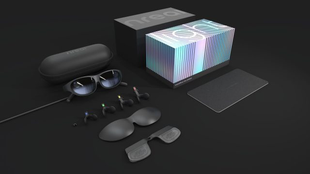 Die Augmented-Reality-Brille Nreal Light.