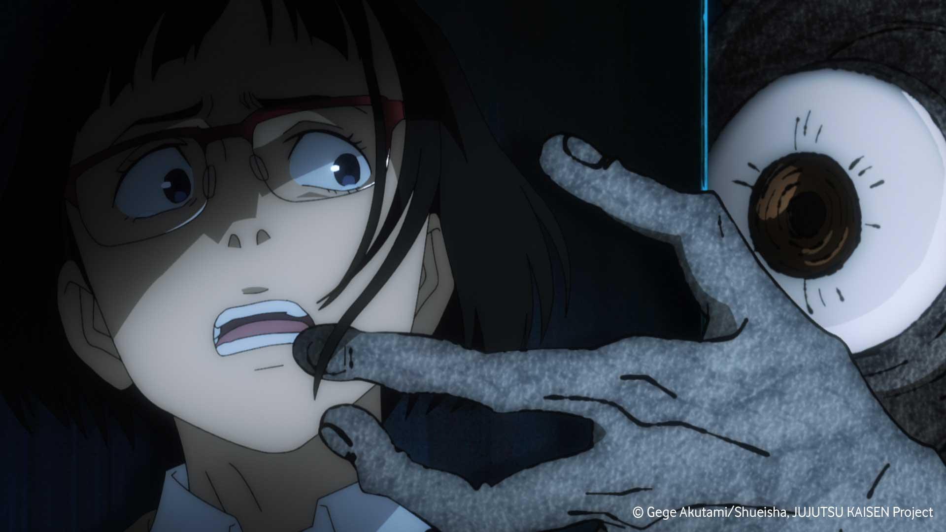 Mädchen wird im Anime Jujutsu Kaisen von einem Fluch angegriffen