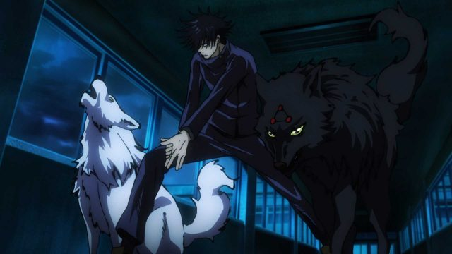 Megumi beschwört Geister-Hunde in Jujutsu Kaisen.